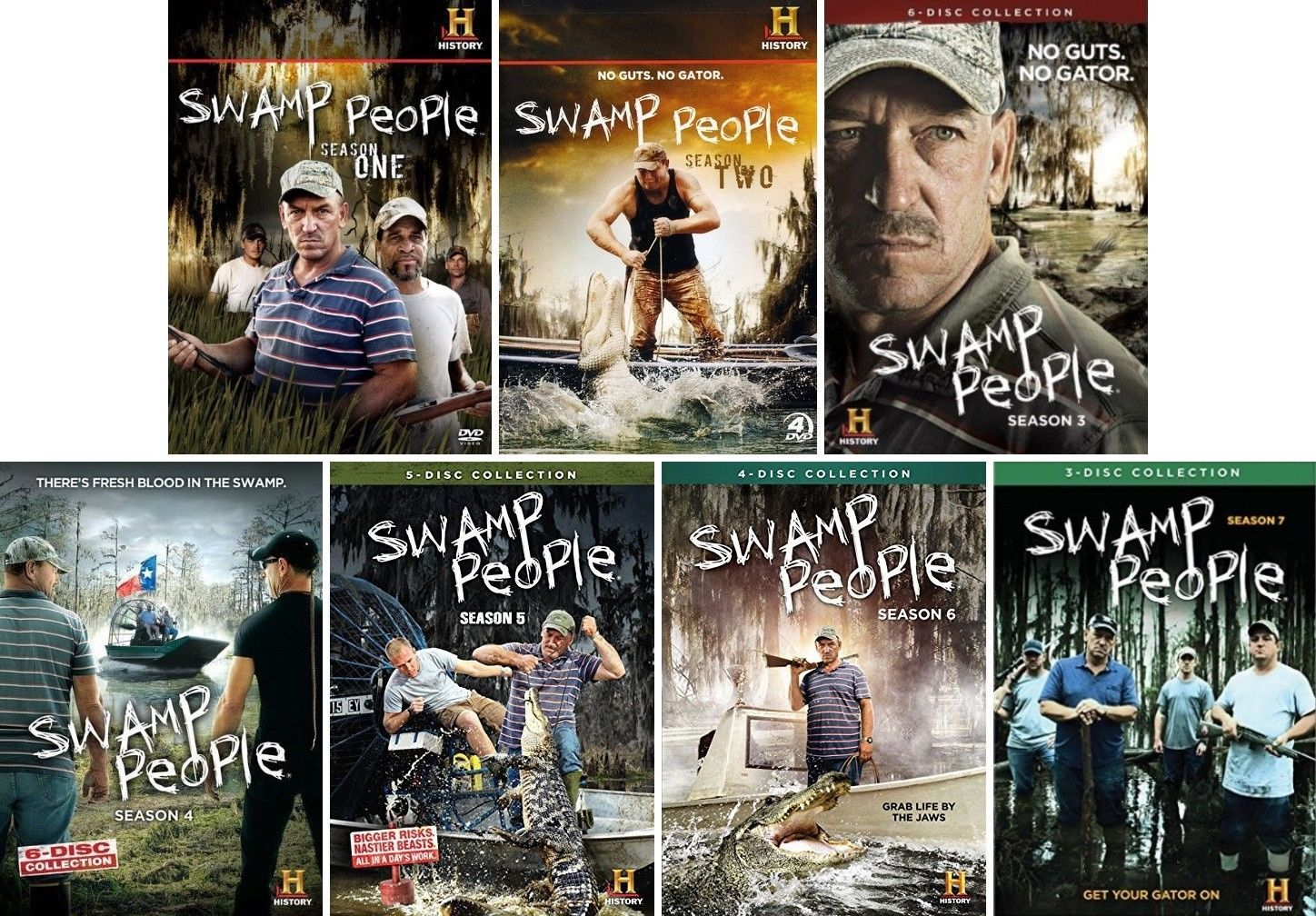 Swamp People Complete TV Series Seasons 1-7 [DVD Sets New]