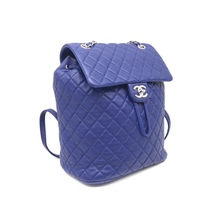 AUTHENTIC CHANEL ELECTRIC BLUE QUILTED LEATHER LARGE URBAN SPIRIT BACKPACK SHW image 4