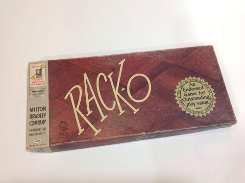 Racko Card Game By Milton Bradley 1956 And 50 Similar Items