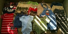 22 piece lot Toddler Boy Size 12 Month Clothes EUC Pants Shorts Rompers - $44.55