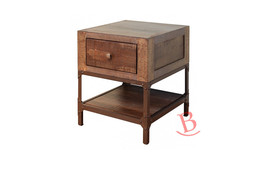 Gabriel End Table Hardwood Iron Rustic Cabin Lodge Bedside Table Classic - $292.05