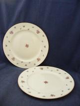"2 Homer Laughlin American Vogue Rambler Rose 9 5/8"" Dinner Plates - $9.95"