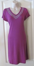 Design History S/S Embroidered V-neck Dress Berry Women's Sz S NWT MSRP$58 - $25.48