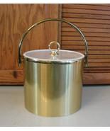 Vintage SHELTON Bar Ice Bucket Gold w Acrylic Lucite Lid MCM USA National  - $23.75