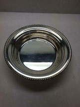Vintage Electroplated Silver On Copper Serving Bowl Scalloped Top Edge Design - $30.28