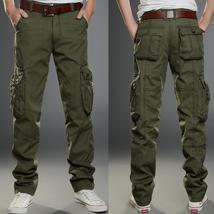 New Pants Mens Warm Casual Army Cargo Camo Camouflage Work Thick Trousers SSUNYX
