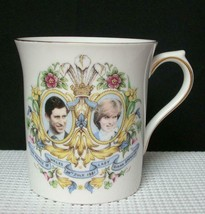 Prince Charles & Lady Diana Wedding 1981 COFFEE MUG Queens Rosina Bone C... - $9.69