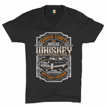 Bourbon Bandit's Bootleg Whiskey V-Neck T-shirt Original Runners Moonshi... - $14.40+