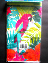 """Parrot Colorful Luau Party Lightweight Plastic Table Cover 54"""" x 108"""" BRAND NEW! - $6.92"""