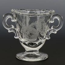 Fostoria Camellia Creamer and Sugar Set Elegant American Glass image 4