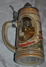 "Budweiser King of Beers ""B"" series w Lid Stein Limited Ed. V Bavarian Fest Scene - $28.04"