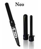 NEO Digital 3P Trio Black Tube Twister Set, Curling Iron Wand W/ Temp Co... - $98.99