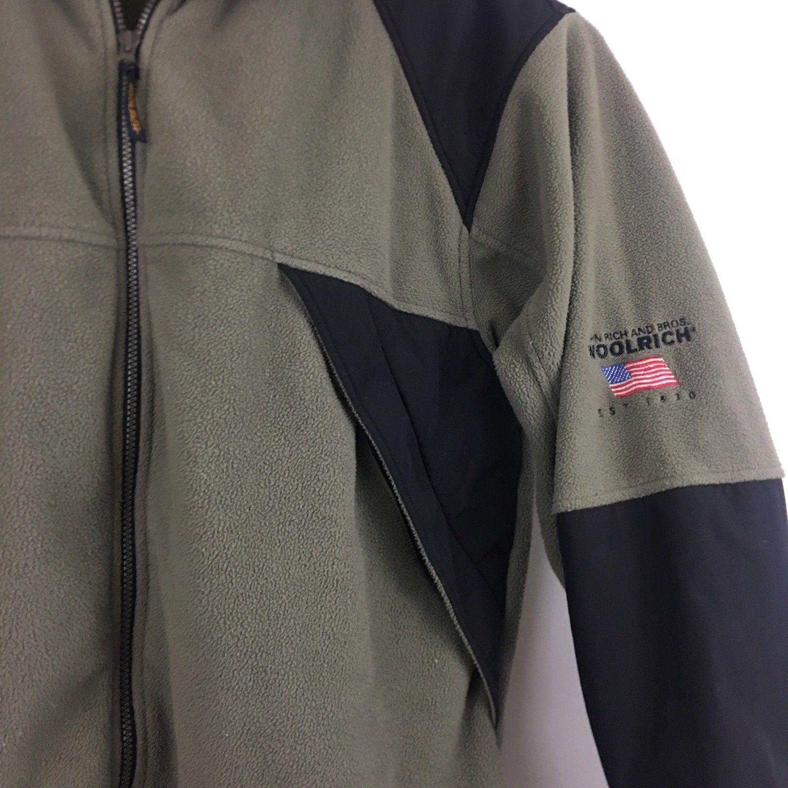 Woolrich Mens  Zip Up Fleece Jacket Sz L Large Zip Up Pockets B209 image 3