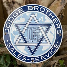 Vintage Dodge Brothers Porcelain Sign Oil Gas Station Jewish Star Of David Delta - $132.95