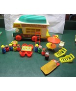 Vintage Fisher Price Little People Play Family CAMPER - 99% complete - $94.95