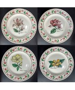 """4 PC NEW Botanical Gardens TABLETOPS UNLIMITED Dinner Plates 10.5"""" Floral - $29.69"""
