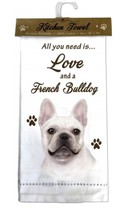 FRENCHIE FRENCH BULLDOG DOG COTTON KITCHEN DISH TOWEL - $9.99