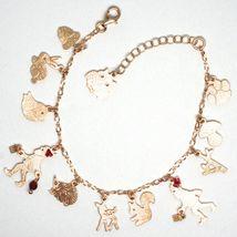 Bracelet en Argent 925, Lapin, Écureuil, Faon, Hérisson, Hibou, le Favole image 5