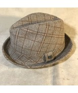 Brixton Stroll Brown Plaid Hat Size 7 Small - $49.49