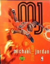 Michael Jordan Upper Deck Sticker Album Chicago Bulls White Sox Basketba... - $8.54