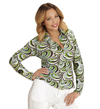 Groovy 70's Lady Shirt Waves Large And Extra Large For Fancy Dress Costu... - £18.29 GBP