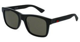 Gucci GG0008S-001  53mm Acetate Green Lens Sunglasses - $195.02