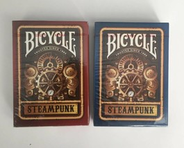 """Steampunk"" Bicycle Playing Cards - Poker Size Deck Lot (Blue & Red) 2015 - $9.87"