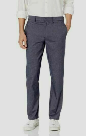 Goodthreads Men's Slim-Fit Modern Comfort Stretch Chino Pant 35W X 28L  NAVY