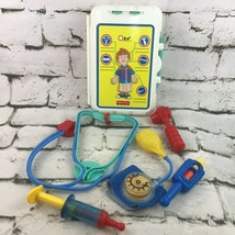 Vintage Fisher Price Doctor Kit Pretend Play Set Lot Of 5 Tools Plus Cas... - $19.79