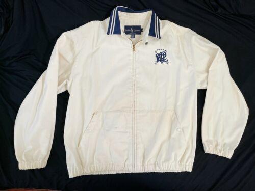 Vintage Beige Ralph Lauren Windbreaker Zip Jacket USA Made Sz Medium M