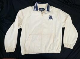 Vintage Beige Ralph Lauren Windbreaker Zip Jacket USA Made Sz Medium M image 1