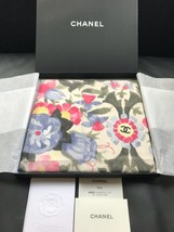 CHANEL Scarf Bandana Cotton 100% Floral Flower Coco mark Woman Auth New ... - $420.44