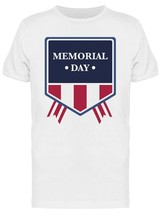 Memorial Day Badge USA Patriotic Graphic Men's T-shirt image 1