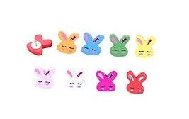30Pieces Cute Rabbit Wooden Push Pins Decorative Board Tacks Utility Icons