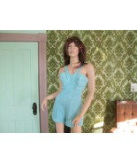 Vintage Rose Marie Reid Aqua Blue Bathing suit Bombshell Pinup Playsuit ... - $240.00