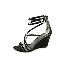 Brian Atwood Sedini Women's Black Suede Wedges Heels Shoes. Size 6.5 M US - $78.21