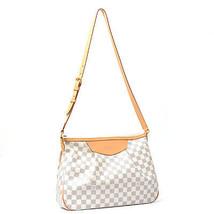 Authentic LOUIS VUITTON Siracusa MM N41112 Damier Azur Shoulder Bag F/S ... - $1,507.77