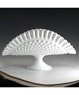 Vintage Fenton Milk Glass Hobnail Pedestal Banana Stand Pie Crust Edge P... - $22.24