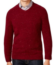 Tasso Elba Men's Red Cherry V-Neck Wool Knit Pullover Sweater - $790,47 MXN