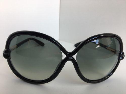 93cdafe76f11 New Tom Ford Sonja TF 185 01B 64mm Black Oversized Women s Sunglasses
