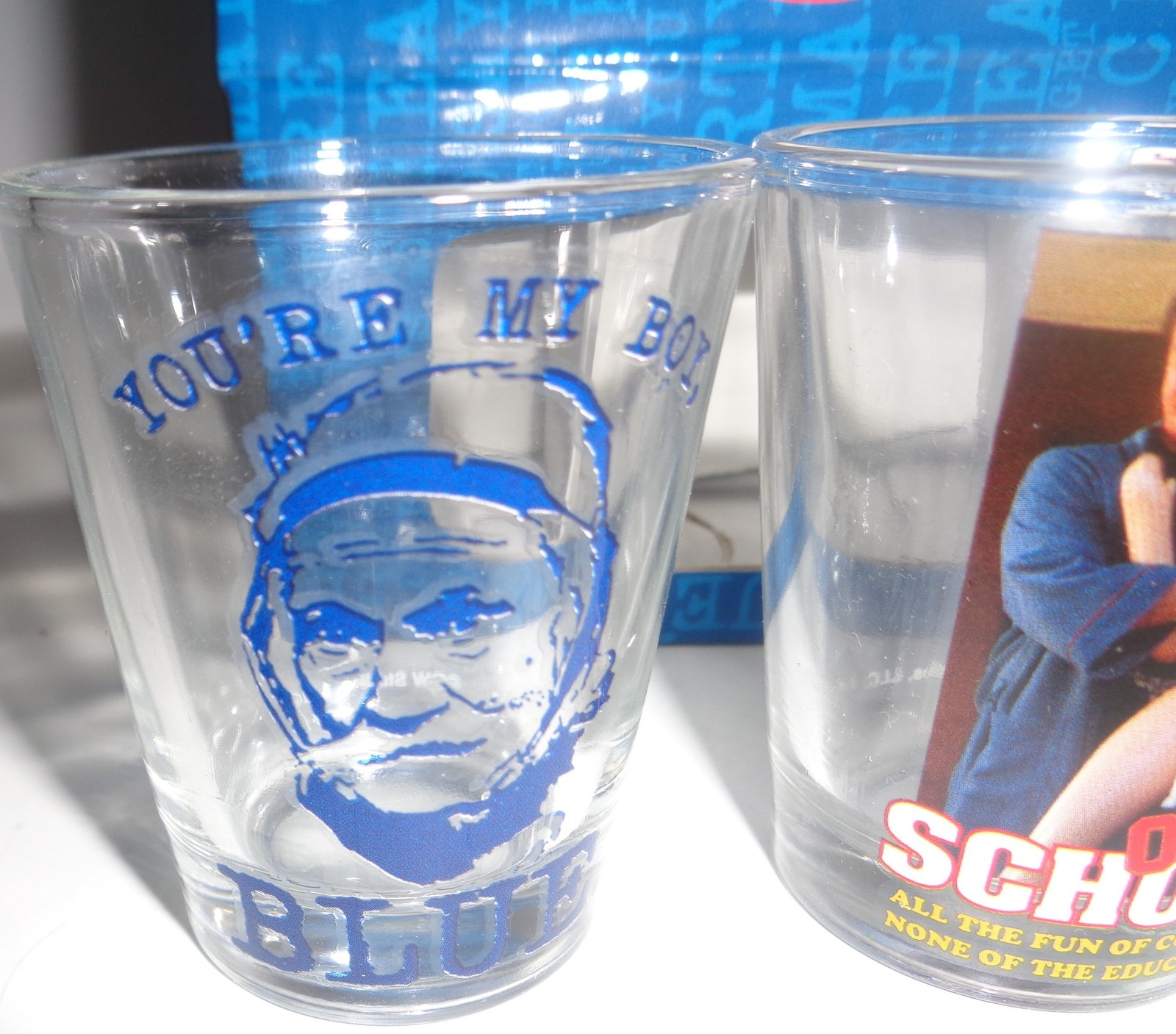 OLD SCHOOL Movie Shot Glasses Box Set of 4 NWT