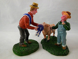 Lemax Village The Prize Pig and judge with ribbon 52116 Retired Harvest ... - $13.85
