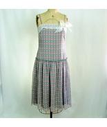 BCBG - Summer Soft Silk Dress - Grey and Pink - Spaghetti Straps - Size ... - $45.00