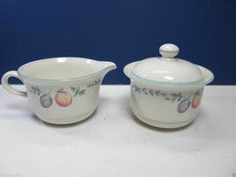 LENOX china COUNTRY COTTAGE ORCHARD Creamer and Covered Sugar bowl - $12.60