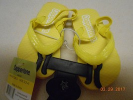 New Coppertone TODDLER SZ S 3/4 flipflops sandals shoes Bright yellow ba... - $4.94