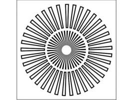 """Crafter's Workshop Mini Sunburst 6x6"""" Template Stencil #TWC166s"""