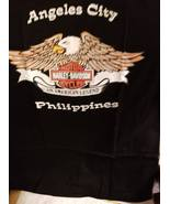 Biker H-D/Angeles City Philippines on a black 2 Extra Large tee shirt - $25.00