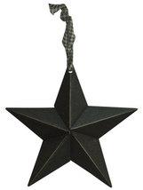 "Black Metal Barn Stars (Set of 6) 5"""