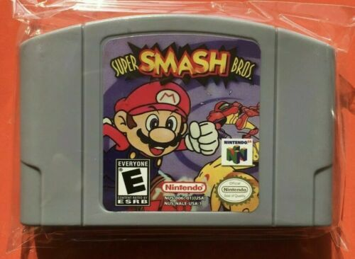 Nintendo N64 Game Super Smash Bros Video Game Card Cartridge USA Version Not OEM
