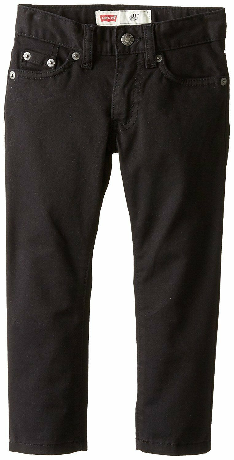 Levis Boys 511 Slim Fit Stretch Adjustable Waist Jeans Black  - $19.99